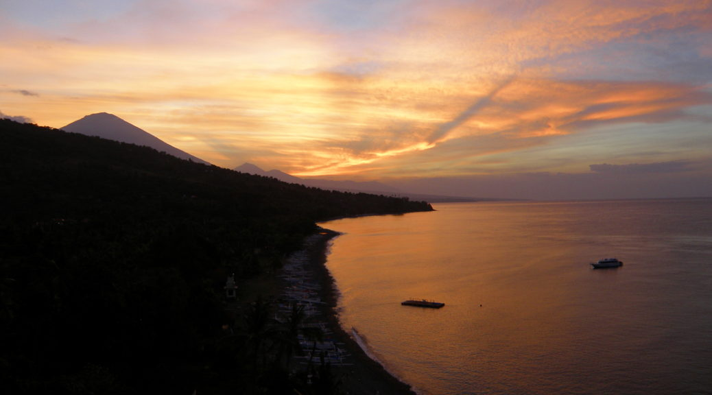 sunset amed beach beali
