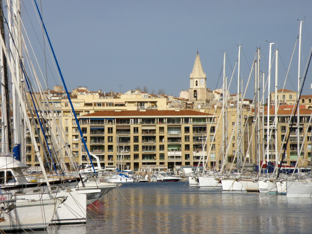 sailboats in marseille harbor