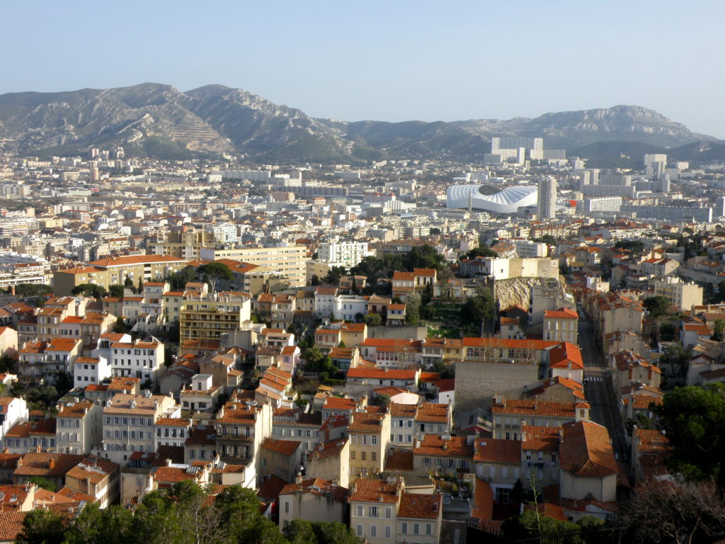 view of marseille france
