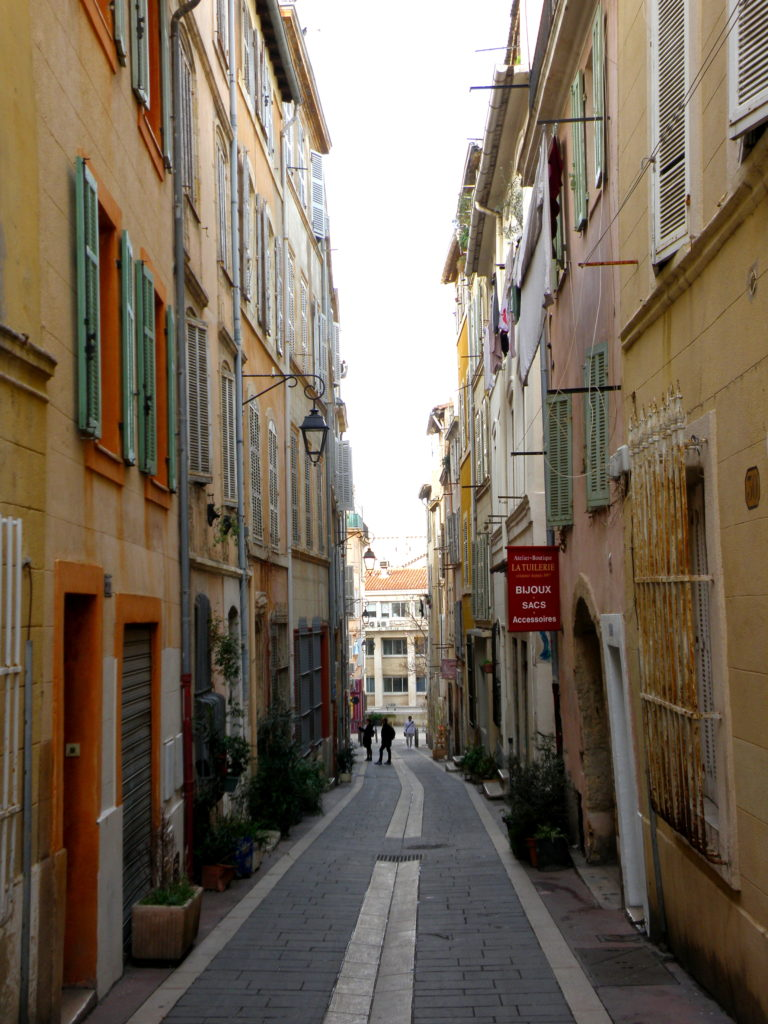 streets of le panier marseille france