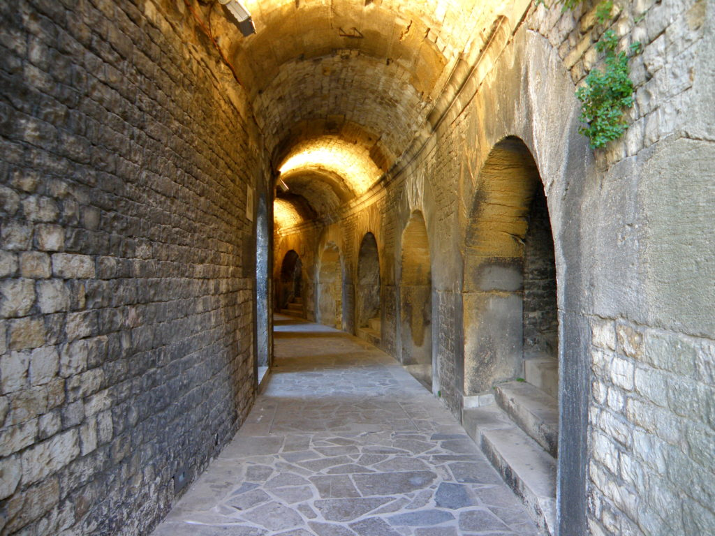 old corridors of roman theater nimes